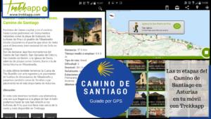 El Camino de Santiago guiado por GPS con Trekkapp
